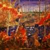 Fire, acrylic on canvas