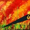 Serie Petrodorado, acrylic on canvas