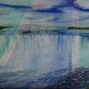 Niagara Fall, oil on canvas