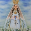Virgen del Valle, oil on canvas