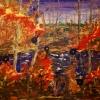 Fire. Acrylic on canvas