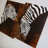 Zebra, oil, 0.63x0.91mts