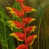 Tropical Flower. Oil on canvas