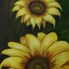 Sunflowers, oil, private collection